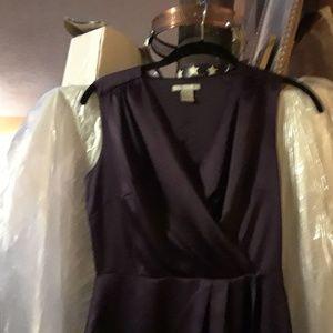 H&M Purple Satin Sleeveless Wrap Dress 4